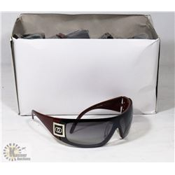 BOX OF CHANEL REPLICA DESIGNER SUNGLASSES, WINE
