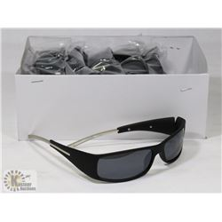 BOX OF NEW BLACK FRAME SUNGLASSES