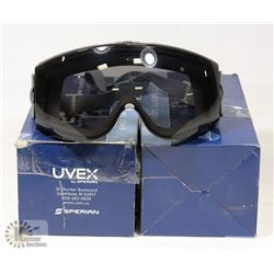 LOT OF TWO UVEX SAFETY GOGGLES