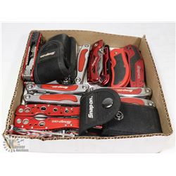 BOX OF 11 SNAP ON POCKET KNIVES