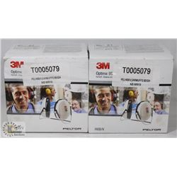 TWO BOXES OF 3M EARMUFFS