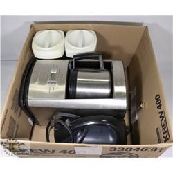 CANNISTER SET, STAINLESS STEEL COFFEE POT,