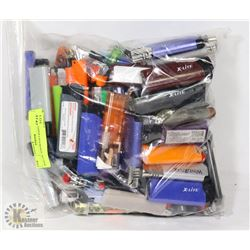 BAG OF ASSORTED LIGHTERS.