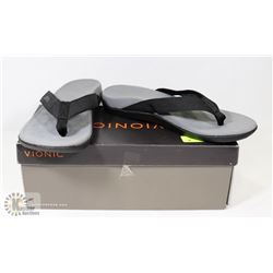 VIONIC SANDAL MENS  BLACK WAVE SIZE 11