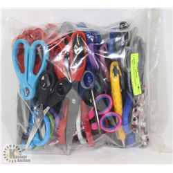 BAG OF ASSORTED SCISSORS.