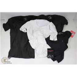 ALIGNMED UNDERSHIRTS 4 SMALL/MED, WHITE AND BLACK
