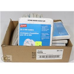 BOX OF DVD/CD MAILERS
