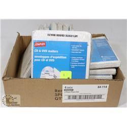 BOX OF DVD/CD MAILERS