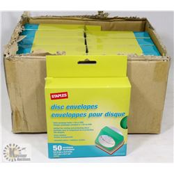 BOX OF DISC ENVELOPES