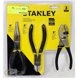 3PC STANLEY PLIERS SET