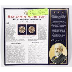 BENJAMIN HARRISON US 23RD PRESIDENT COINS IN