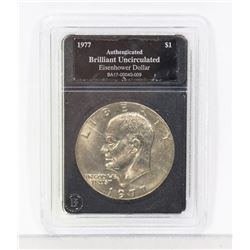 1977 B.U. EISENHOWER ENCASED DOLLAR COIN
