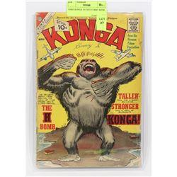 RARE KONGA 10 CENT COMIC BOOK