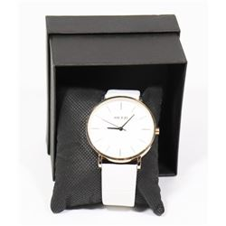 NEW KEZZIE LADIES WATCH WHITE STRAP.