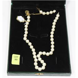 "NEW ARTIFICIAL PEARL 18"" NECKLACE"