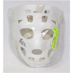 SIGNED GRANT FUHR THROWBACK WHITE GOALIE MASK
