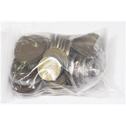 BAG OF ASSORTED WORLD COINS.