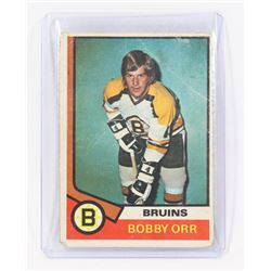BOBBY ORR #100 FROM 1973 HOCKEY CARD,.