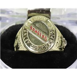 NHL NEW YORK RANGERS REPLICA RING.