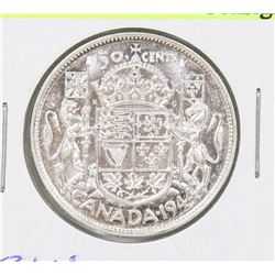 1944 CANADIAN GEORGE VI SILVER 50 CENT COIN