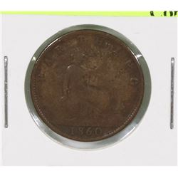 1860 GB QUEEN VICTORIA FARTHING
