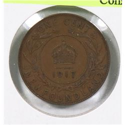 1917C NEWFOUNDLAND GEORGE V LARGE CENT
