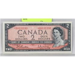1954 CANADIAN ASTRISK A/B REPLACEMENT $2 NOTE