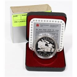 1981 CANADIAN CASED PROOF SILVER $1 COIN