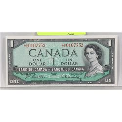 GEM UNC 1954 ASTRISK A/A REPLACEMENT $1 NOTE