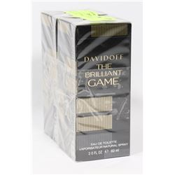 LOT OF 2 DAVIDOFF THE BRILLIANT GAME EAU DE