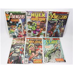 LOT OF 6 MISC COLLECTOR COMIC BOOKS INCL HULK