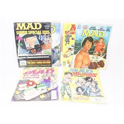 10 MAD MAGAZINES INCL SOME SPECIAL ISSUES.