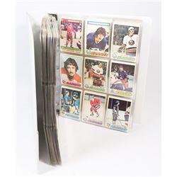 BINDER OF OVER 490 OPEECHEE HOCKEY CARDS 1973-78.