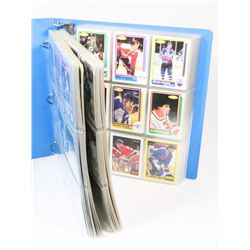 BINDER OF OVER 490 OPEECHEE HOCKEY CARDS 1978-89.