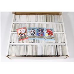 BOX OF OVER 3000 HOCKEY CARDS - ASST SETS & YEARS.
