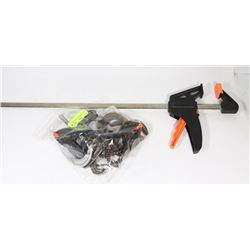 BAG OF CLAMPS WITH 4FT CLAMP