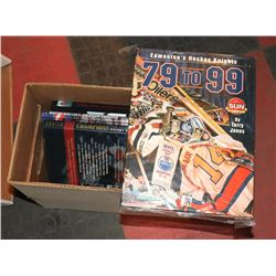 LOT OF 8 HOCKEY BOOKS INCL GRETZKY, HOWE AND
