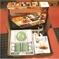 BOX W/NEW PRODUCTS INCL. NEW ROSCHER