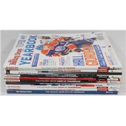 10 HOCKEY NEWS YEARBOOKS MAGAZINES