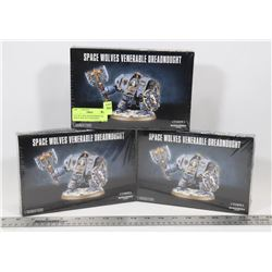 LOT OF 3 NEW WARHAMMER 40K SPACE WOLVES VENERABLE