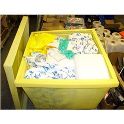LARGE INDUSTRIAL SPILL KIT IN LARGE YELLOW TUB
