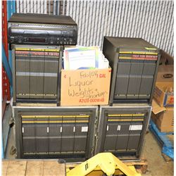 LASER DISC KARAOKE COLLECTION WITH HOLDING CASES &