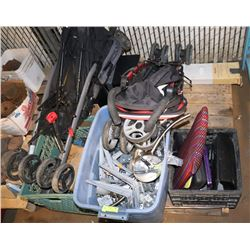 PALLET OF MISC, INCLUDING TOOLS, ELECTRICAL,