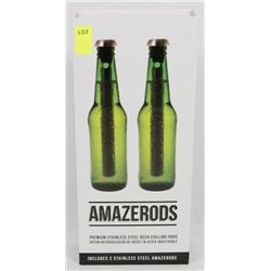 NEW AMAZERODS STAINLESS STEEL BEER CHILLING RODS