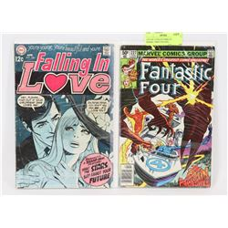 LOT OF 2 COLLECTORS COMIC BOOKS, 1960'S FALLING