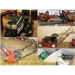 FEATURED LAWN AND GARDEN EQUIPMENT