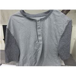 New Casual Shirt short sleeve / 2 tone grey size small