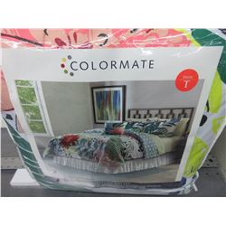 New Colormate Twin Complete Bed Set