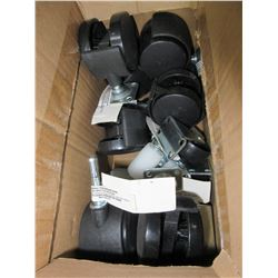 Box with Assorted sets of New Castors / 4 kinds