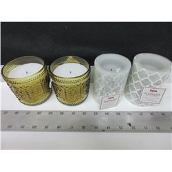 4 New Inglow Flameless LED Wax Candles